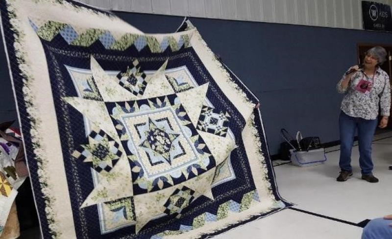 Irene shows what she calls Midnight Quilt