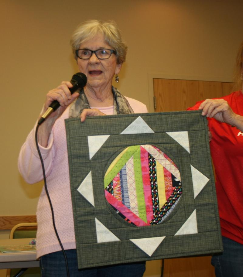 Marlene H.-Scrappy wall hanging from a class taught by Gudrun Kels