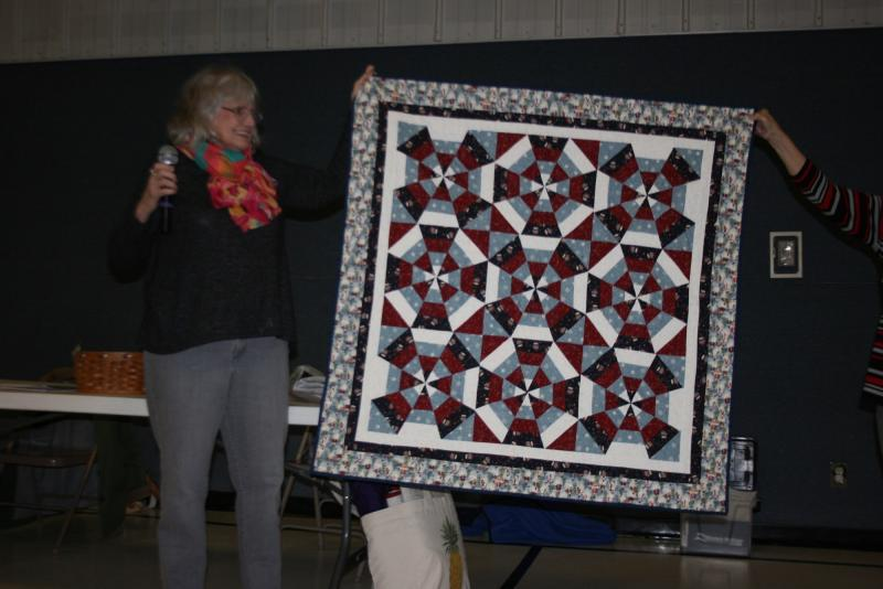 Janice C.-Kaleidoscope Snowman quilt