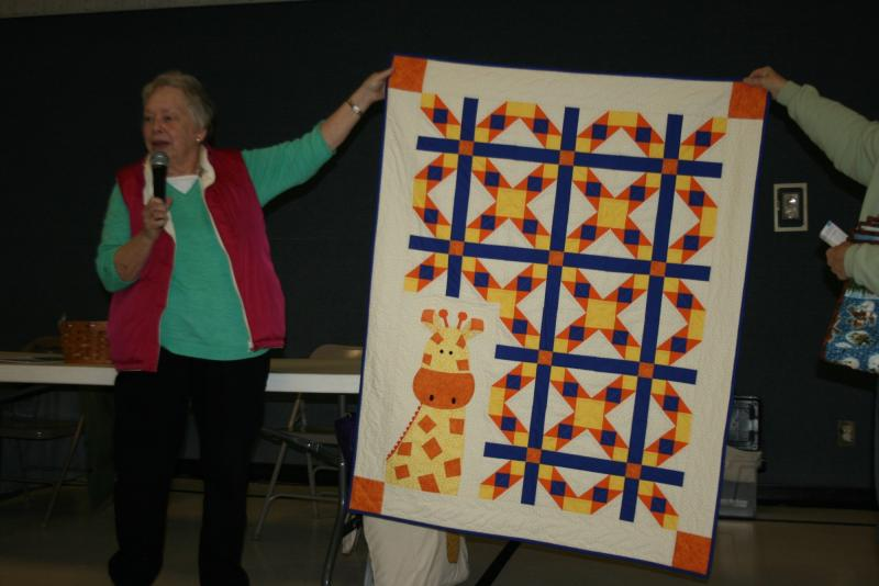 Alice M.-George the Giraffe at the Zoo-baby quilt for a niece who is having her first child
