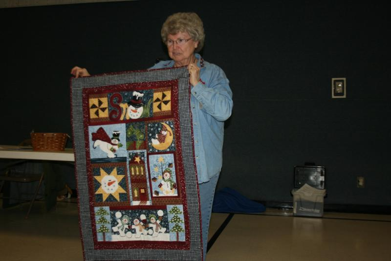 Connie M.-Smowman Panel quilt from a kit she bought in Rapid City
