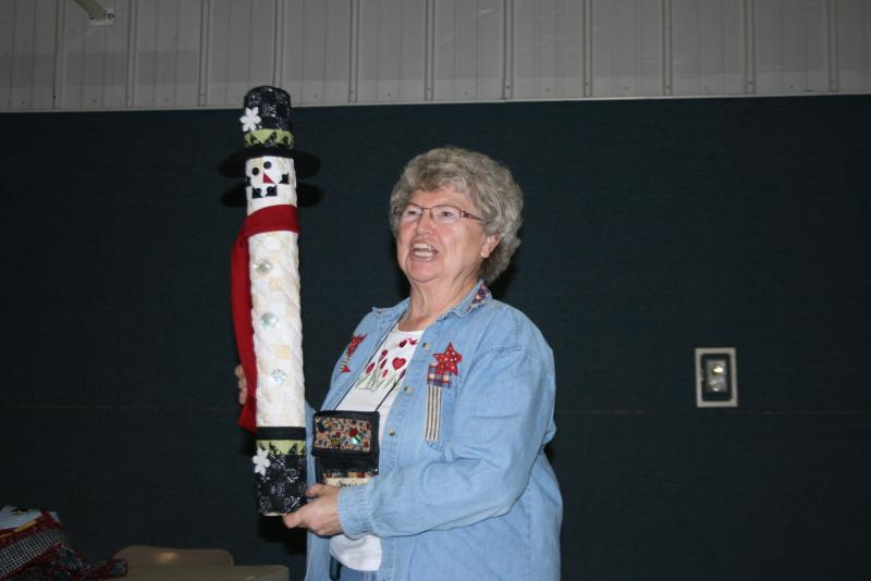 Connie M.-Tube standing Snowman from kit