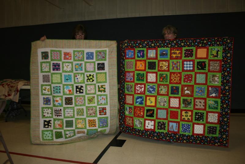 Elaine M. & Carol L.-I spy kids quilts