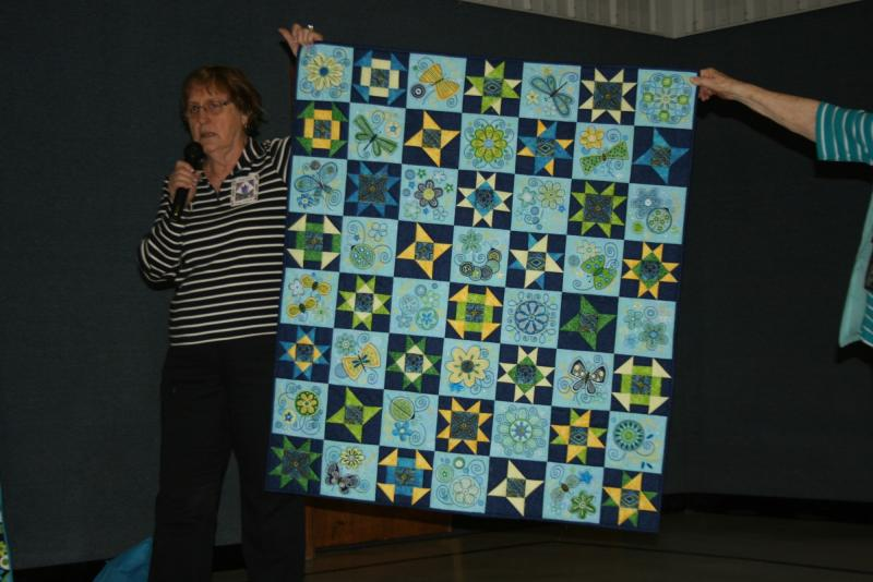 Patsy S. Embroidered blocks quilt