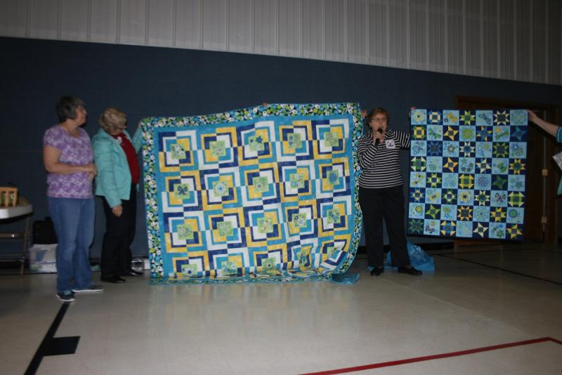 Irene H. & Patsy S. Embroidered blocks quilts