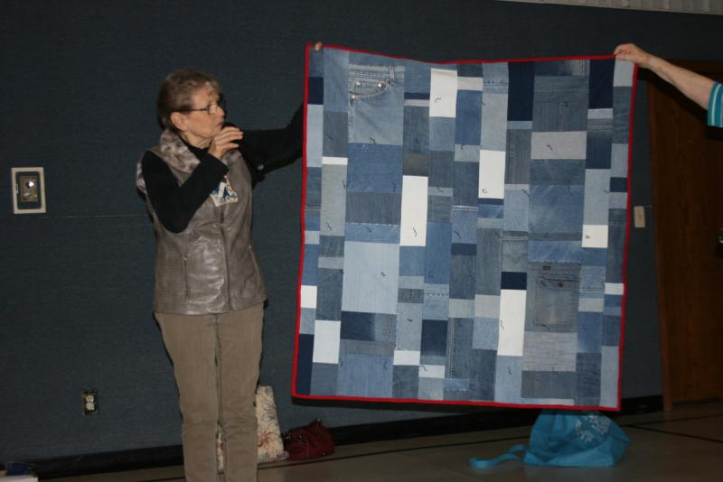 Sharon C. Denim Lap quilt donated to Circle of Life auction