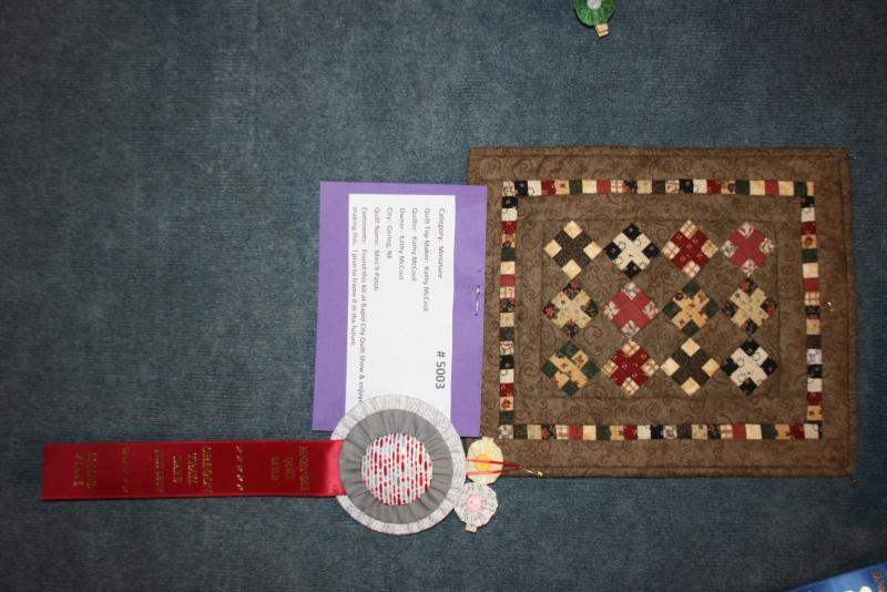 Miniature 2nd place: Kathy McCool