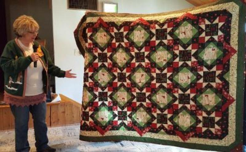 Sue S  My Jesus quilt,  bought material/kit @ Sew Blessed in McCook