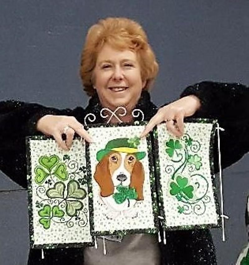 Judy shows her St Patrick's decor